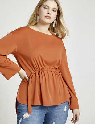 Adjustable Waistband Top