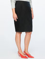 Faux Leather Pencil Skirt Totally Black