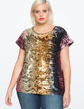 Varigated Sequin Top Multicolor