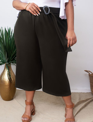 Cropped Pant with Buckle