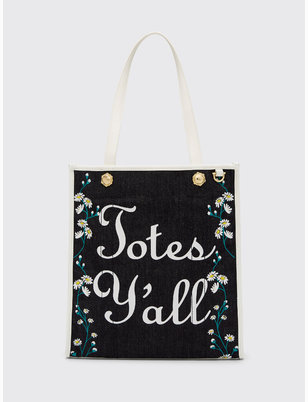 Daisy Vine Denim Totes Y'all