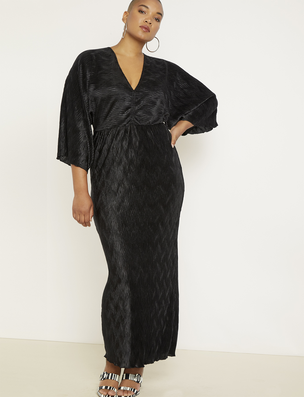 Kimono Sleeve Maxi Dress | Women\'s Plus Size Dresses | ELOQUII