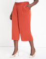 High Waisted Cropped Pant Mineral Red