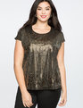 Sequin Top Black and Gold