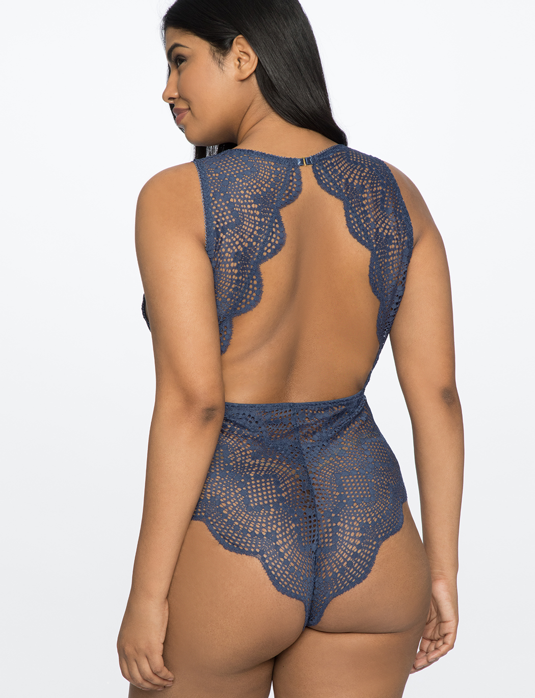 Lace Bodysuit with Plunging Neckline