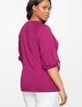 Tie Waist Puff Sleeve Top Crushed Berry