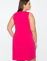 9-to-5 Sleeveless Stretch Work Dress Bright Rose
