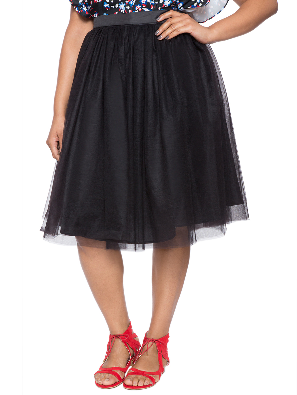 4c0d37c81 Studio Tulle Midi Skirt | Women's Plus Size Skirts | ELOQUII