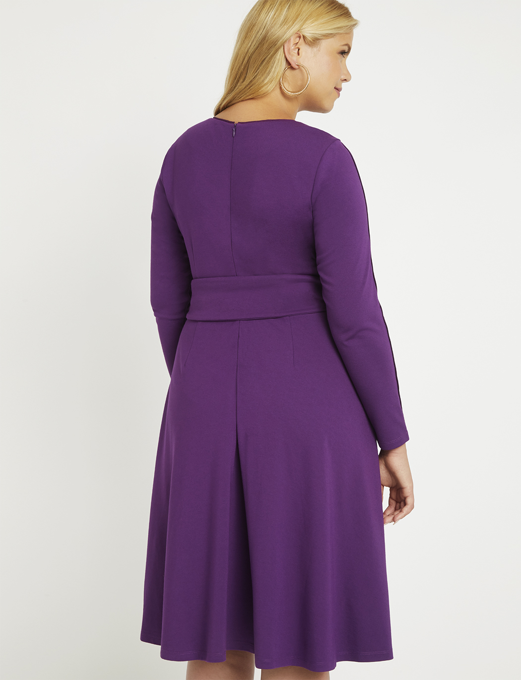 Long Sleeve Fit and Flare Dress