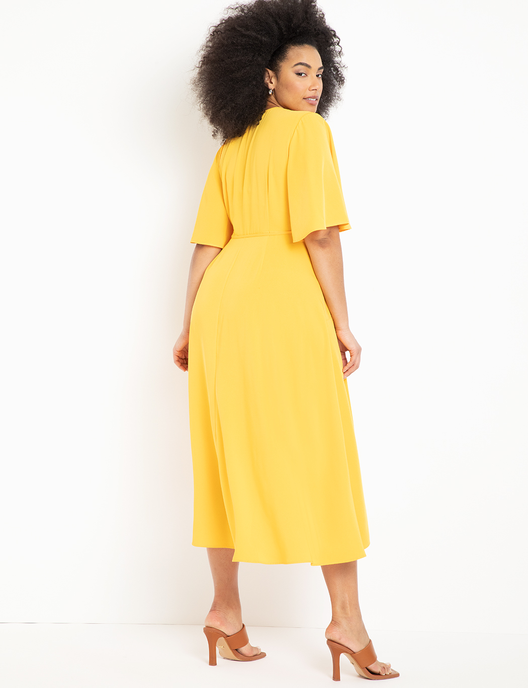 Flare Sleeve Maxi Wrap Dress