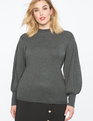 Puff Sleeve Sweater Charcoal Heather