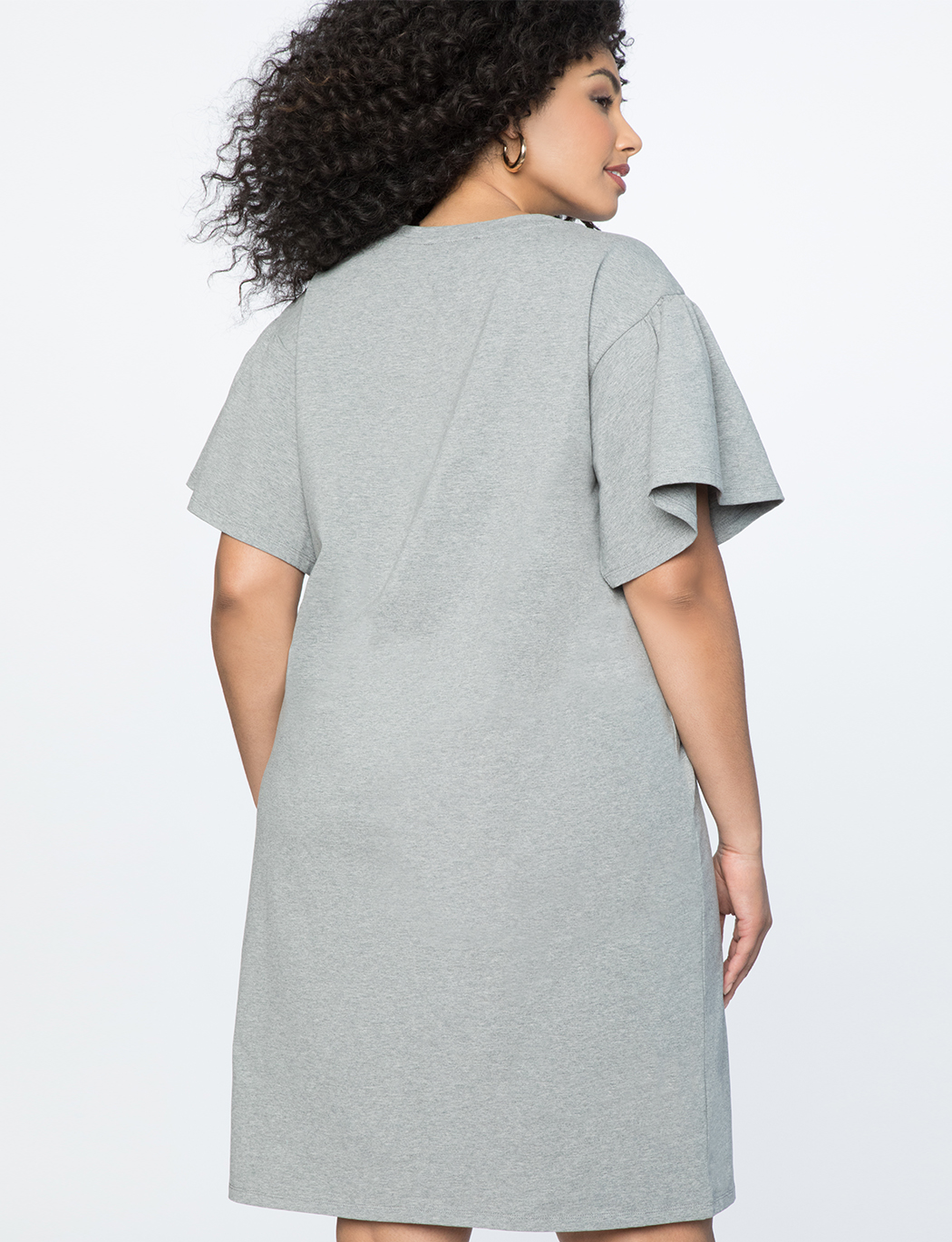 Tie Waist Flared Sleeve Tee Dress