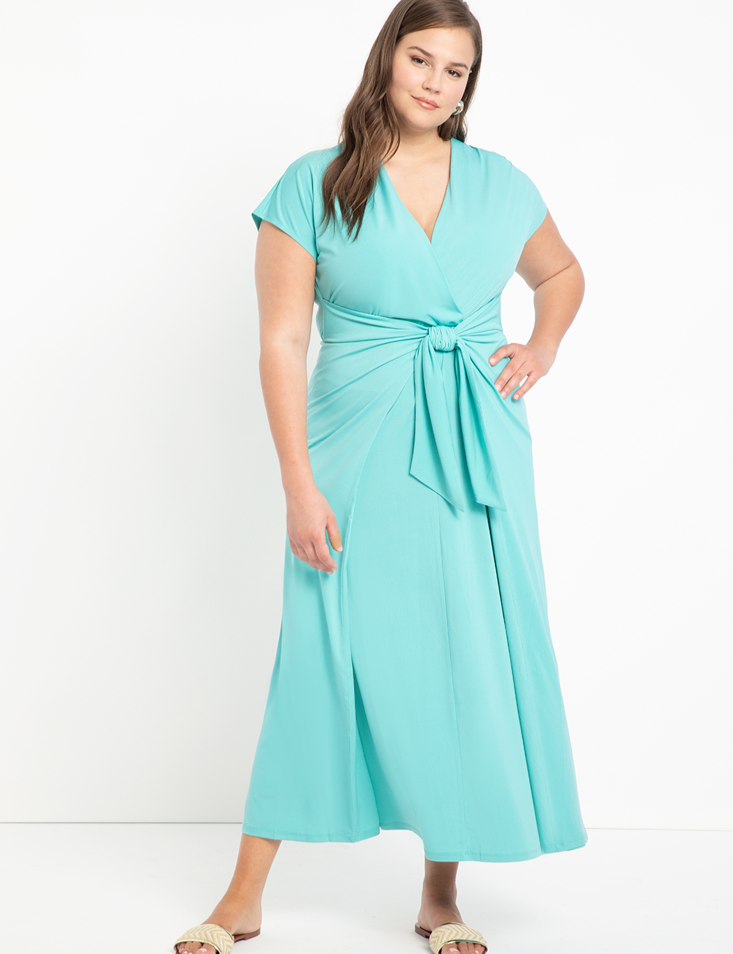 Easy Maxi Dress With Wrap Tie Skirt 9