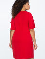 Slit Sleeve Dress with Bow Detail JESTER RED