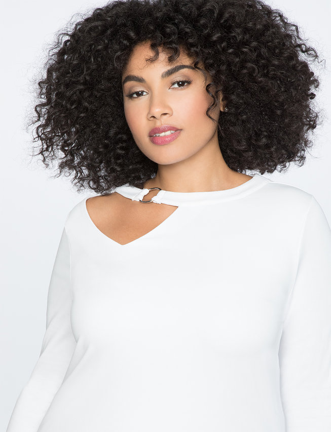 Cutout Neckline Top