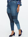 Shadow Patch Skinny Jean Mixed Washes