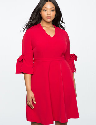 Tie Sleeve Detail Dress