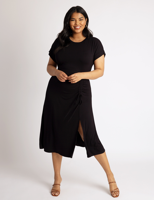 Cinched Skirt Tee Dress