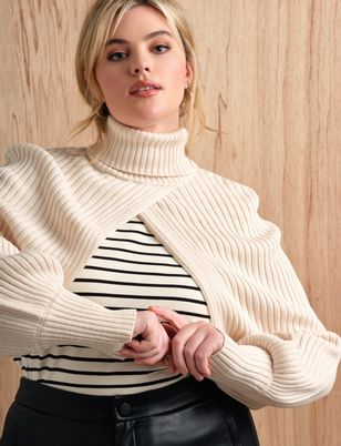 Turtleneck Sweater Sleeve Scarf