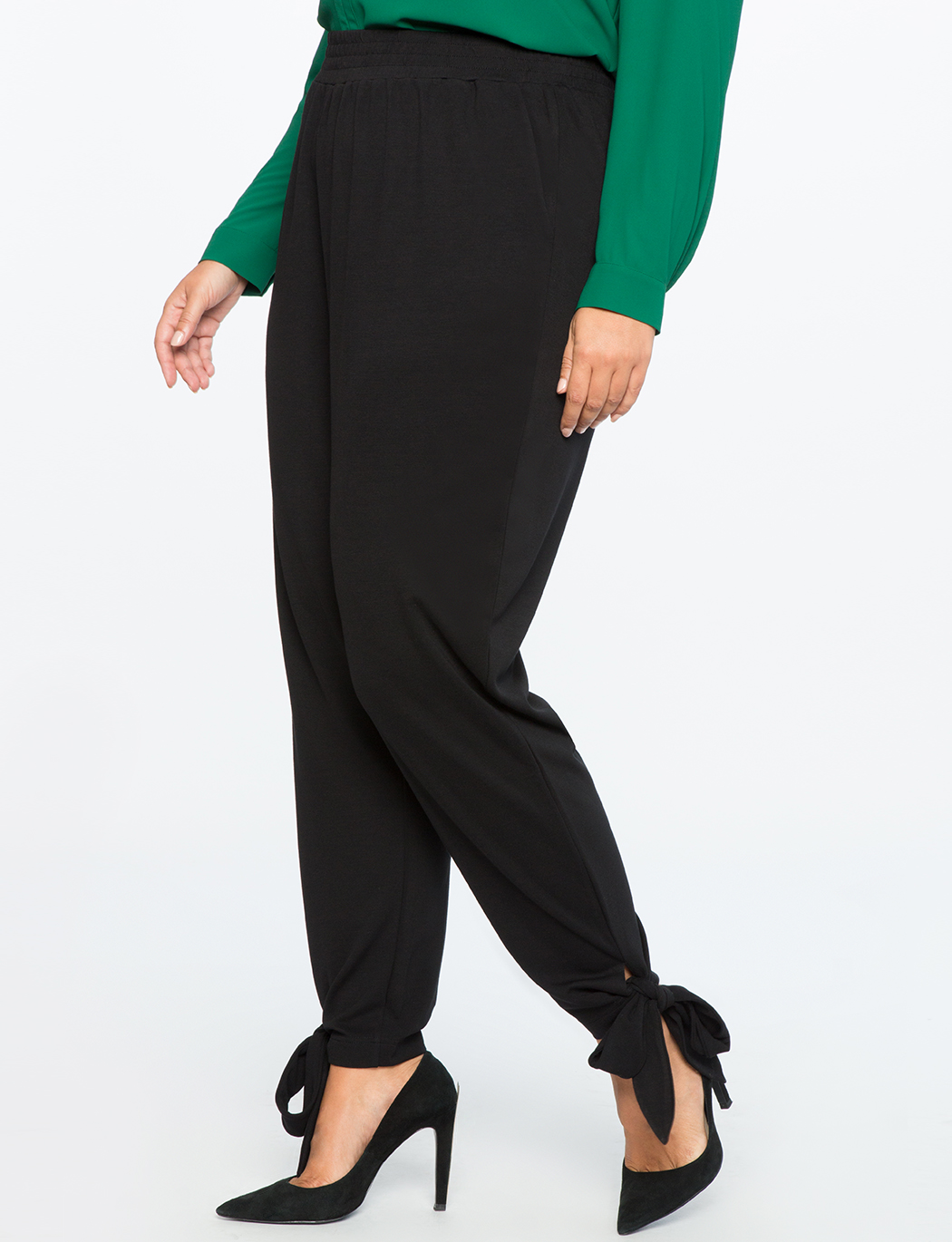 Pull On Easy Ankle Wrap Pant | Women\'s Plus Size Pants | ELOQUII