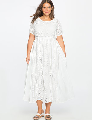 Studio Eyelet Detail Dress