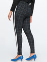 Plaid Legging With Side Stripe Navy Plaid
