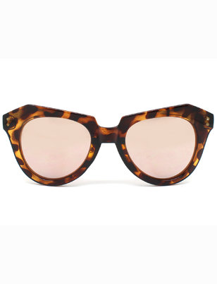 Tortoise Wide Frame Sunglasses