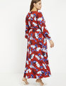 Wrap Maxi Dress Blooming Oaks