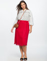 Pom Pom Wrap Skirt JESTER RED