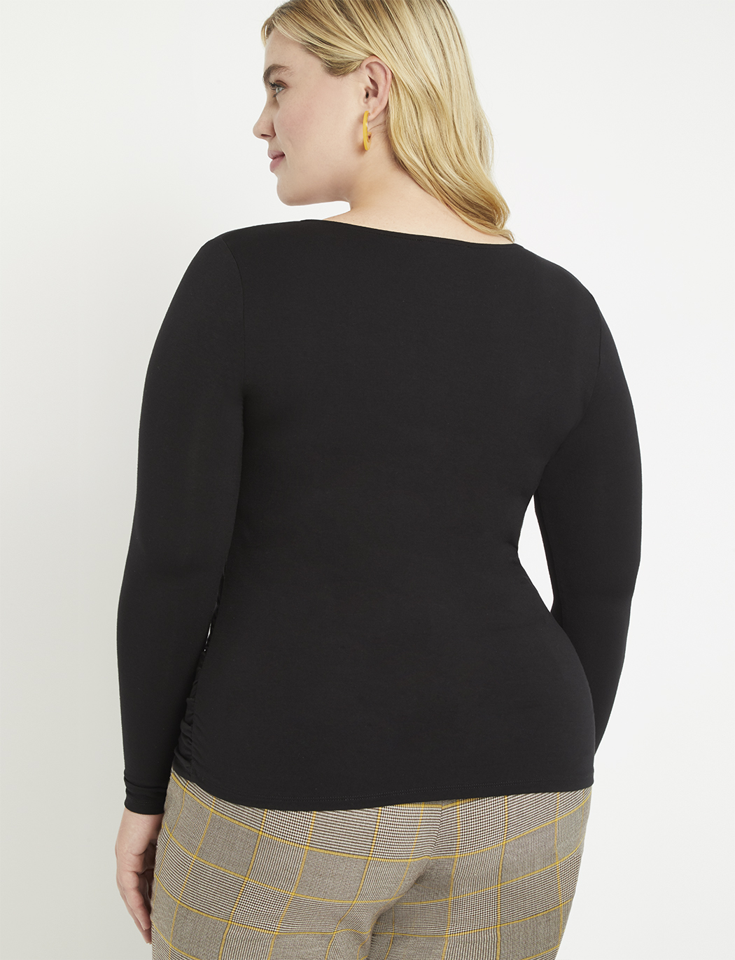 Center Ruched Long Sleeve Top
