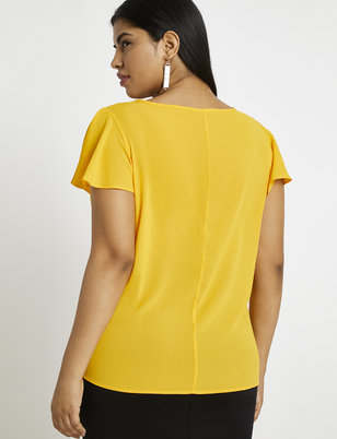 9-to-5 Pintuck Detail Top
