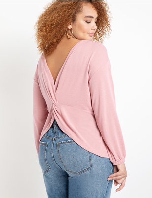 Twist Back Knit Top