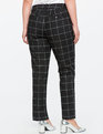 Windowpane Print Kady Pant Black / White Check