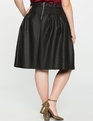 Faux Leather Skater Skirt Totally Black
