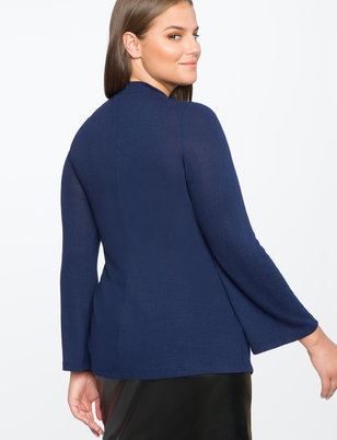 Floating Collar Wrap Top