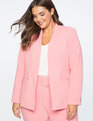Kiss Front Blazer With Button Apple Blossom