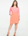 V-Neck Pleat Front Tunic Pink Salmon