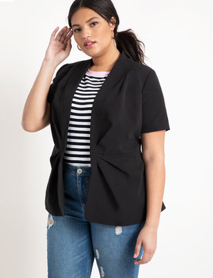 Gathered Peplum Jacket
