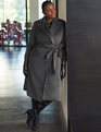 Premier Wrap Robe Coat Heather Grey