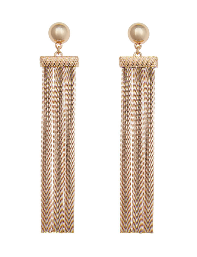 Chain Fringe Statement Earrings