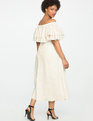 Studio Off the Shoulder Double Ruffle Gown CREAM WITH GOLD