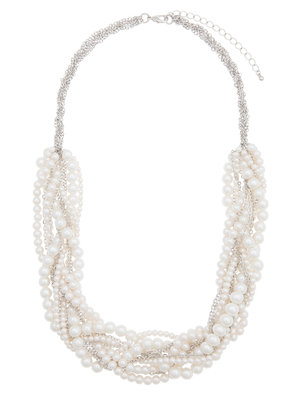 Pearl Braided Statement Necklace