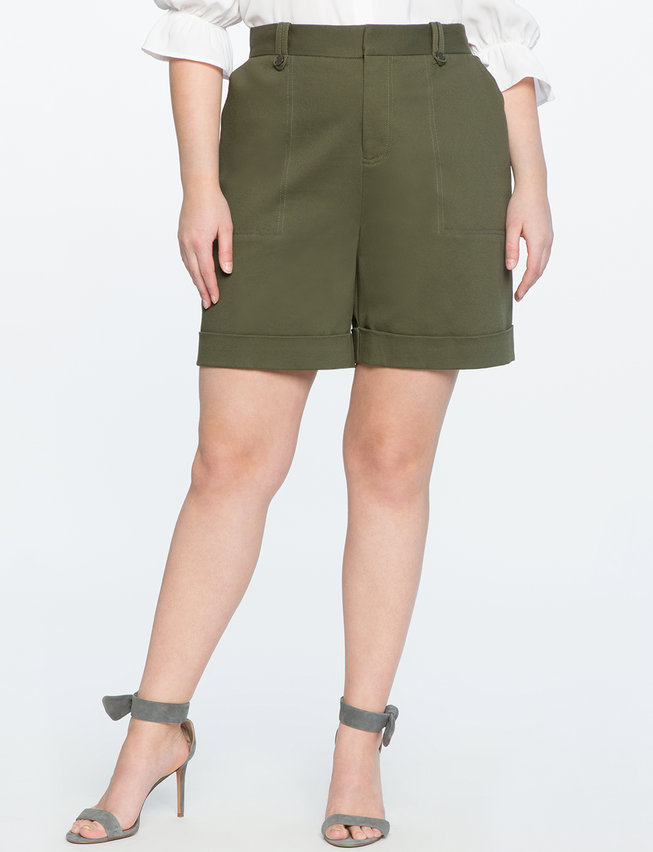 High Waisted Wide Leg Shorts