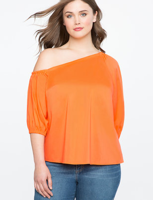 Asymmetrical Off the Shoulder Top