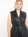 Faux Leather Vest Black
