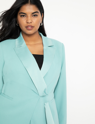 Blazer with Satin Tie