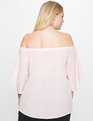 Studio Off the Shoulder Layered Ruffle Top Blush