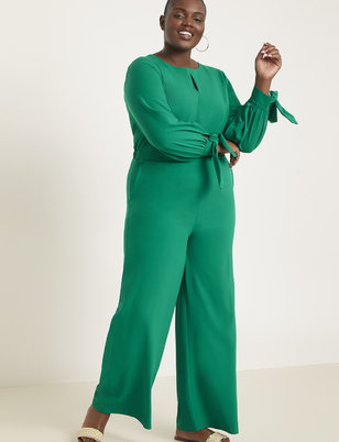Wide Leg Jumpsuit with Tie