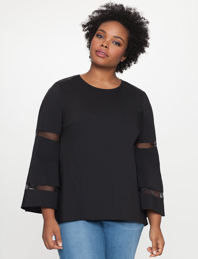 Hi Lo Popover with Bell Sleeves