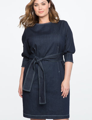 Dolman Sleeve Denim Dress